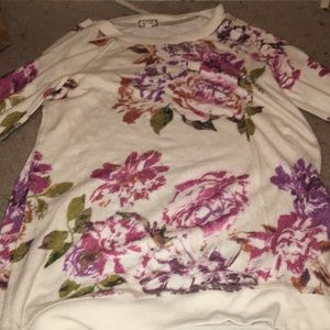 Sweaters - Floral , medium shirt, soft and nice